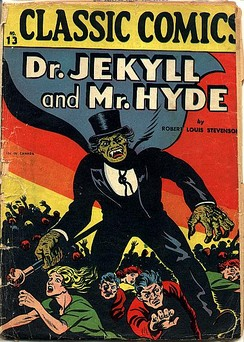 Gilberton Publications' Dr. Jekyll and Mr. Hyde (August 1943), possibly the first full-length comic-book horror story