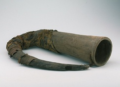 Wooden horn of the Samo people