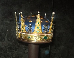 Coronet created for Prince Frederick Adolf and worn at his brother Gustav's coronation in 1772.