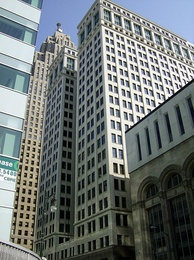 Chrysler House landmark executive offices in the Detroit Financial District