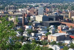 "Paterson, New Jersey, known as the ""Silk City""[27] in the New York City Metropolitan Area, has become a prime destination for one of the fastest-growing communities of Dominican Americans, who have now become the largest of more than 50 ethnic groups in the city, numbering in the tens of thousands.[28]"