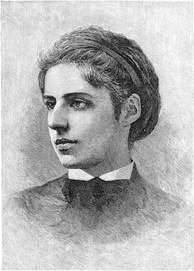 Emma Lazarus, American poet. Born into a large New York Sephardi family.
