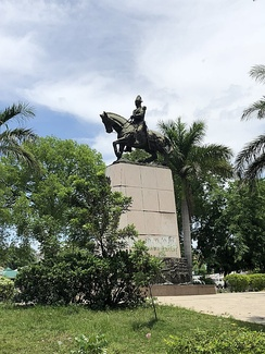 Equestrian statue of Henri Christophe in the Haitian capital Port-au-Prince