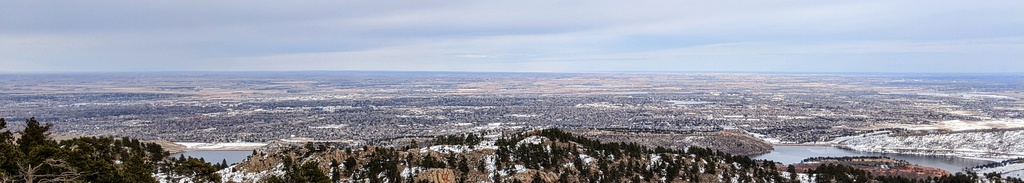 Fort Collins as seen from the top of Horsetooth Mountain