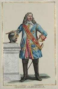 George Albemarle, General Anglois. d'Apres Barlow undated French engraving