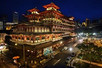 The Buddha Tooth Relic Temple and Museum in the heart of Chinatown