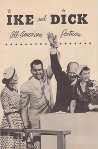 Front cover of literature for the Eisenhower–Nixon campaign, 1952