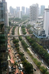 Jalan Jenderal Sudirman, Jakarta's main avenue and business district