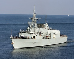 HMCS St. John's, one of 12 Halifax-class multi-role frigates in service with Royal Canadian Navy
