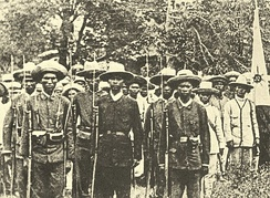 A late 19th century photograph of Filipino Katipuneros