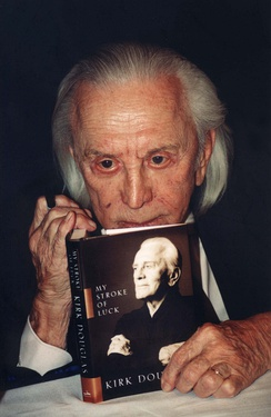Douglas with his book in 2002