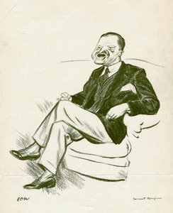 Maugham was the subject of this caricature by David Low.