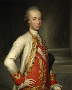 Leopold as a young man by Anton Raphael Mengs, 1770, Madrid, Museo del Prado