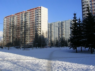 Olympic Village in February 2004