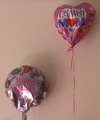 Aluminized Mylar ballons filled with helium