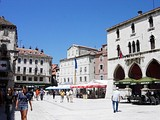 The Pjaca city square in Split