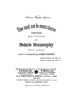Title page of Rimsky-Korsakov's edition, published by V. Bessel and Co.