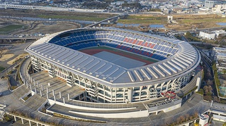 International Stadium Yokohama, one of the two home stadiums of the Yokohama F. Marinos