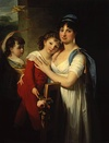 Portrait of Anna Muravyova-Apostol with her son Mathew and her daughter Catherine.JPG