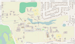 Map of the Reed College campus