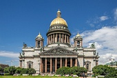 Saint Isaac's Cathedral in Saint Petersburg (Russia), completed 1858, an example of Greek Revival architecture