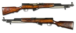 The SKS is a semi-automatic Russian rifle