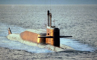 A Delta IV-class nuclear-powered ballistic missile submarine