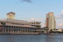 Tampa Convention Center, built at the site of Fort Brooke