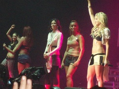 The Pussycat Dolls performing on tour in 2006