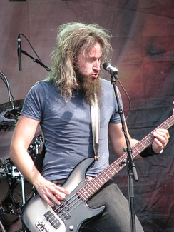 Troy Sanders with Mastodon at Sonisphere, Stockholm in 2011