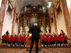 The Wilten Boys' Choir, one of the oldest boys' choirs in Europe. Six boys from this choir were used to found the Vienna Boys' Choir by Maximilian I.