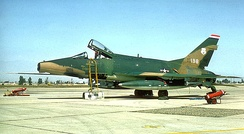 113th Tactical Fighter Squadron – North American F-100D-75-NA Super Sabre 56-3198 in Vietnam War camouflage livery.