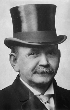 Austin Lane Crothers, 46th Governor of Maryland (1908–1912), wearing a top hat