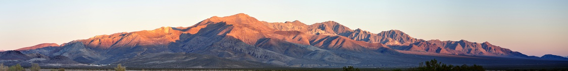 Panorama of Bare Mountain Range as seen from near State Route 374 between Beatty and Rhyolite.