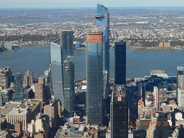 Hudson Yards seen from the 102nd floor of the Empire State Building, November 2018