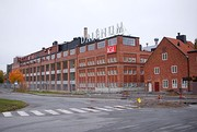Some of the remaining AGA-buildings, today working as a center for small companies. The AGA head office with about 150 employees is still in some of the buildings. Photo: October 2009