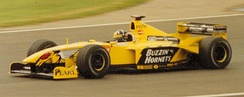 Hill driving for Jordan at the 1999 British Grand Prix
