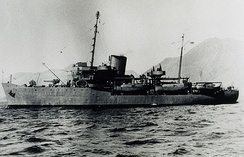 USC&GS Explorer (OSS 28) in the Aleutian Islands in 1944