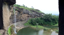 View from Cave 29, Ellora