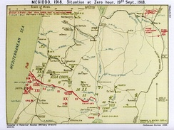 Falls Sketch Map 30 shows position of the front line before the Battle of Megiddo in September 1918