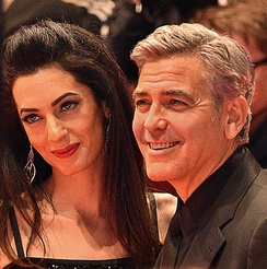 Clooney and Alamuddin at the 66th Berlin International Film Festival in 2016