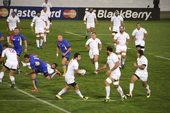 Georgia vs. Romania in the Rugby World Cup 2011