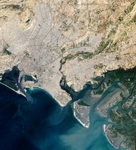 Satellite view of Karachi