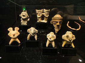 Votive objects found at the bottom of Lake Guatavita in the British Museum.[4]