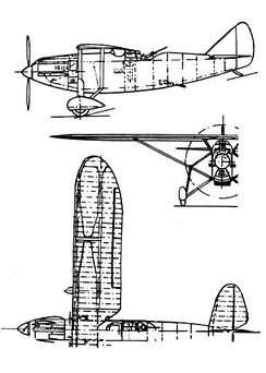 Late 491 3-view drawing from L'Aerophile March 1933