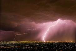 A spring storm over Adelaide.