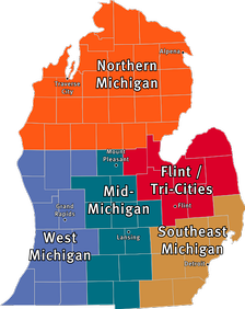 Regions of the Lower Peninsula of Michigan