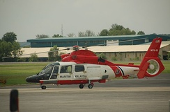 MMEA's Eurocopter AS365 N3 Dauphin used for SAR and surveillance.