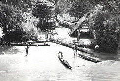 Maroon village, along Suriname River, 1955