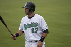 Moreland with the Clinton LumberKings in 2008